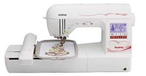 Simplicity Brother Demo  SE1800, Simplicity by Brother, SB8000, 184 Stitch, Sewing, 5x7 Embroidery, Machine, 9 Fonts, 136 Designs, 200 on CD, BES2 Lettering, USB Stick