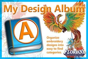 Floriani MDA My Design Album Embroidery Software for Cataloging Designs, Includes Updated Image Maker Software