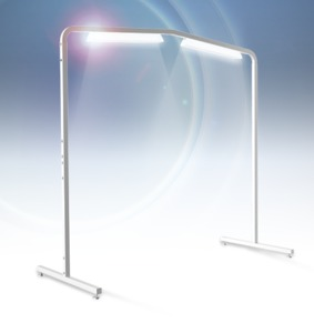 64606: Grace 01-11961 Luminess 5-6' LED Floor Lamp Overhead Light Bar on Casters