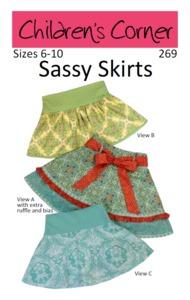 Children's Corner CC269 Sassy Skirt Sewing Pattern Sizes 6-10
