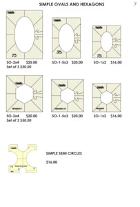 Sew Steady Westalee Simple Ovals and Hexagons Template Ruler, Choose Size Options/Pricing via drop menu