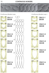 "Sew Steady Westalee CBL Continuous Loop Borders, Select Template Ruler Size 2"" or 3"" Wide Patterns"