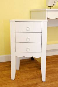 Arrow 5010 3-Drawer 90 Spool Thread Caddy, Cabinet Storage, 3 Drawer Chest Unit, White, Assembled