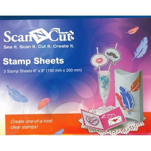 "Brother ScanNCut CASTPS1 3Pk Stamp Sheets 6x8"" for CASTPKIT1 Start Kit"
