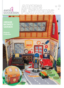 "Anita Goodesign PROJ102 Grease Monkey Garage Projects Collection CD, 18 Panels in 4 Sizes for 6x10, 9.5x14"" Hoops"