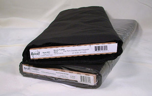 "Bosal 301 - Fusible Woven Interfacing in Black - 23""X25yd Bolt"