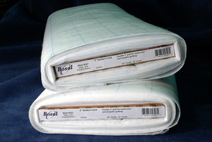 "Bosal 327 Preprinted 2"" Grid Poly Fiber 48""x25Yd Bolt for Watercolor and Bargello Quilting"