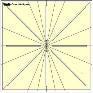 "64354: Sew Steady CHS12.5"" 8 Point Westalee Cross Hair Square Marking Tool Ruler Template"