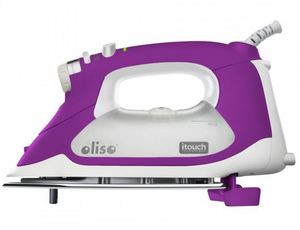 WHITE/Orchid Purple-OLISO SMART IRON 18, Oliso TG-1100 Continuous Steam Burst  iTouch Smart Iron Has Legs! Orchid Purple