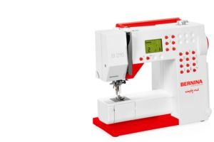 Bernina 215 Simply Red Computer Sewing Machine, Threader, Needle Stop Up Down, Speed Control