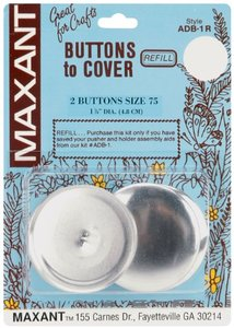 "Maxant Buttons to Cover Button Refill-Size 75 1-7/8"" 2 Ct."