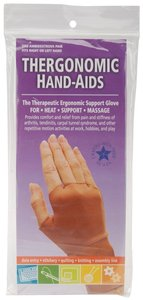 Thergonomic 0607 Hand-Aids Lycra Nylon Spandex Support Gloves, 1 Pair Extra Large