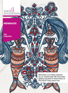 Anita Goodesign 305AGHD Mermaids Full Collection 39 Embroidery Designs CD