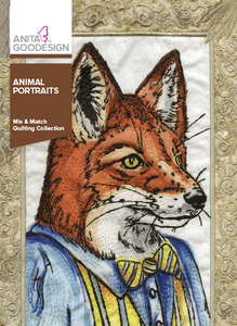 Anita Goodesign 306AGHD Animal Portraits Mix & Match Quilting 18 Designs Collection CD