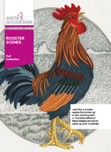 Anita Goodesign 304AGHD Rooster Scenes Full Collection 20 Designs CD