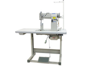 """TechSew 860 7""""H Post Bed Compound Walking Foot Industrial Sewing Machine, Servo Motor Power Stand, Needle Positioner, Lamp, 5/8"""" Foot Lift, 7mm SL"""