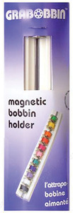 65127: Blue Feather 6770 Grabbobbin Magnetic Plastic Rack Holder for 16 Bobbins
