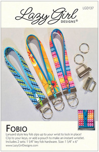 Lazy Girl Designs LGD137, Fobio Pattern, includes 2 sets nickel key fob harware size 1-1/4in.