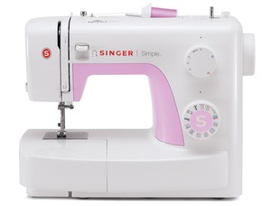 Singer 3223 23 Stitch Simple   Mechanical Sewing Machine, 4-Step Buttonhole, Auto Needle Threader, 5 Feet