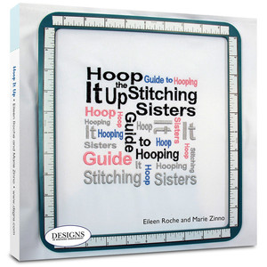 "DIME BK00125 Hoop It Up Guide to Hooping, Successful Embroidery 80 Page Bound Book +Angle Finder, 4"" & 7"" Target Rulers, Stickers for Tshirts, Koozies"