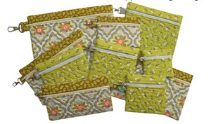 Embroidery, Garden, Zipper, Cases, Set, in, the, hoop, phone, tissue, diaper, wipes, card, case