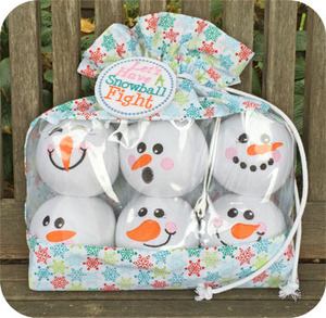 Embroidery Garden #39 Snowman Snowballs, Storage Bag, Set 2 Embroidery Designs on CD