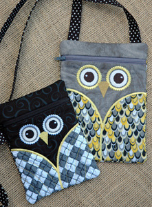 Embroidery, Garden, Owl, Hipster, Purses, Set, in, the, hoop