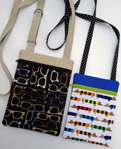 """When finished, the larger purse in this set measures 6"""" x 8"""". The smaller purse is 5"""" x 6.75"""" when finished."""