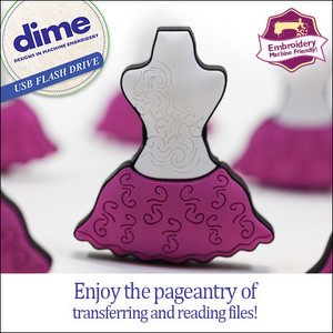 80414: DIME USB0200 USB Stick Flash Drive Key: Dressed to Impress Blue