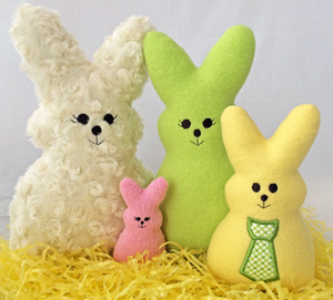 Embroidery, Garden, Bunny, Softies, fleece, easter