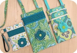 Embroidery, Garden, 2, Zipper, Purse, Set
