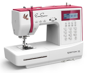 EverSewn Sparrow 25, 197 Stitch Computer Sewing Machine, 7mm Zigzag,  1-Step Autosize Buttonhole