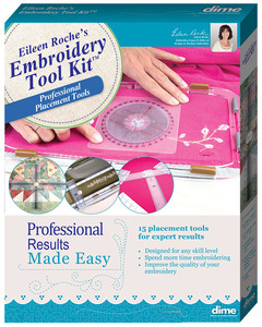 62968: Eileen Roche Embroidery Tool Kit, Angle, Center Ruler, Target Sticker, Hoop Shields ETK0010