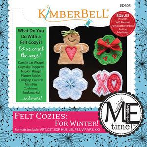 Kimberbell KD605 MeTime CD: Felt Cozies for Winter