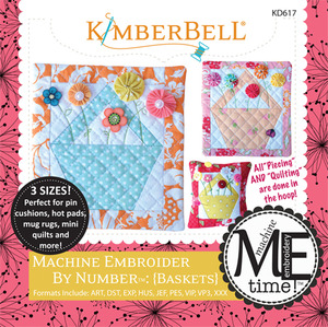 Kimberbell KD617 MeTime CD: Embroider by Number Baskets Designs