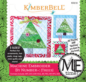 65447: Kimberbell KD618 MeTime CD: Embroider by Number Trees Embroidery Designs