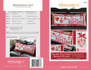 "Kimberbell KD166 ""Be My Valentine"" Bench Pillow Sewing Project Pattern"