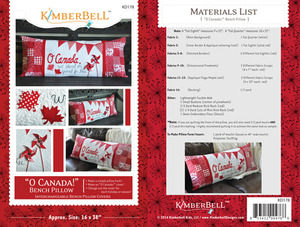 """Kimberbell KD178 """"O, Canada"""" Bench Pillow Sewing Project Pattern"""