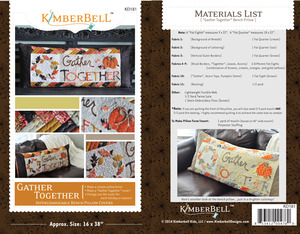 "Kimberbell KD181 Gather Together 16x38""Bench Pillow Sewing Project Pattern"