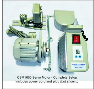 65514: Consew CSM1000 Servo Motor 3/4HP, 3450RPM, 110V or CSM1001 with Needle Positon Synchronizer