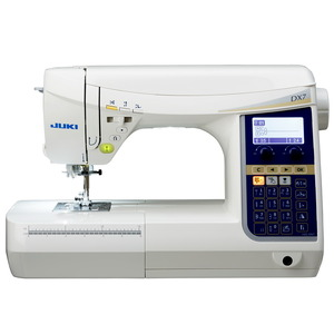 Juki, HZL-DX7, Computerized, Sewing, Machine, box, feed, straight, stitch, plate, float, function, buttonhole, presser, foot, pivot, automatic, needle, threader