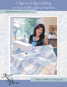 57183: Amélie Scott Designs ASD201 Edge to Edge Quilting on your Embroidery Machine, Book and CD