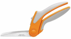 "Fiskars F1908 Razor Edge Easy Spring Action 8"" Fabric Scissors Shears Bent Trimmers for Tabletop Cutting"