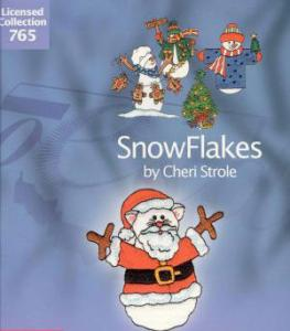 OESD 765 Snowflakes by Cheri Strole Embroidery CD For the Bernina Artista 200 .art Format