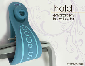 Smart Needle SNHOLDIEME Holdi Hoop Holder Holds 4, Emerald
