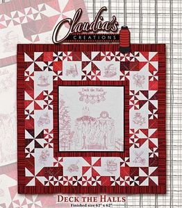 Claudia's Creations HD60988 Embroidery Deck the Hall Hand Sewing Pattern