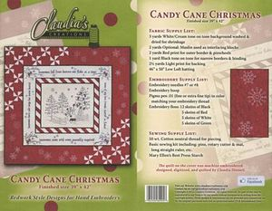 Claudia's Creations HC60995 Candy Cane Christmas, Hand Sewing Pattern