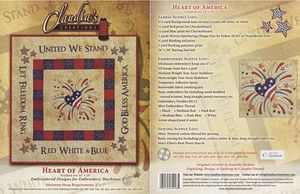 Claudia's Creations HA91787 Heart of America Embroidery Design Pack CD