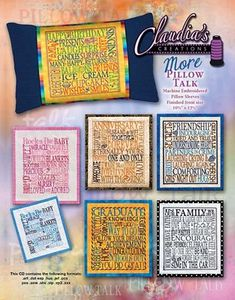 66320: Claudia's Creations MP60990 More Pillow Talk Embroidery Design Pack