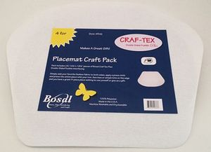 Bosal BOSPM-6 Placemat Craft Pack Cupcake w/ Craf-tex Plus fusible
